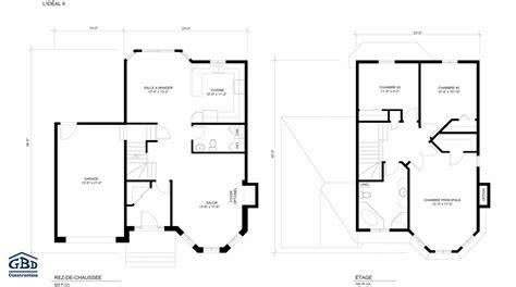 plan maison etage 2 chambres plan maison etage 2 chambres plan 2 de la maison