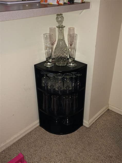 Liquor Cabinet Ideas Diy by Small Black Diy Liquor Cabinet For Corner Idea Decofurnish