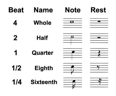 Each rest symbol and name corresponds with a particular note value for length, indicating how long the silence should last. Types of Rests in Music: Whole, Half and Quarter