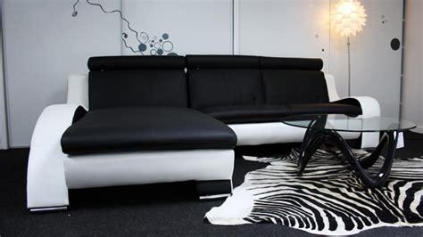 canapé cuir noir design photos canapé noir et blanc design