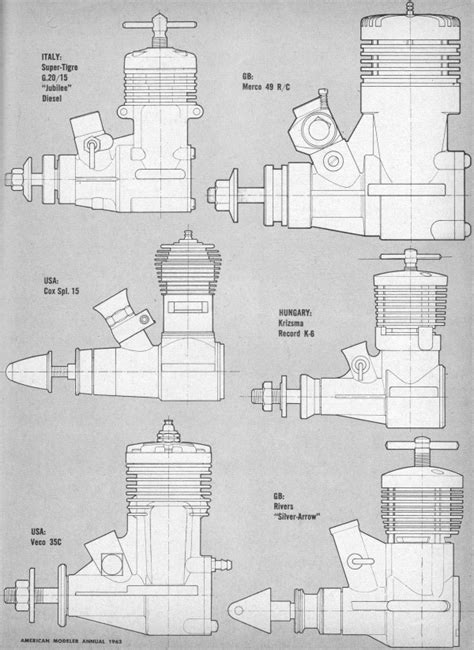 Model Airplane Engine Diagram by Global Engine Review 1963 Annual Edition American Modeler