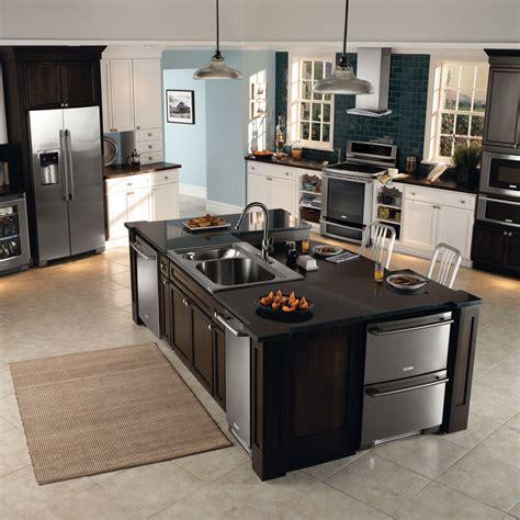 grey granite countertops Kitchen Contemporary with bar