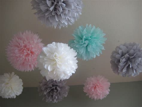 10 tissue paper pom poms decoration by prosttothehost