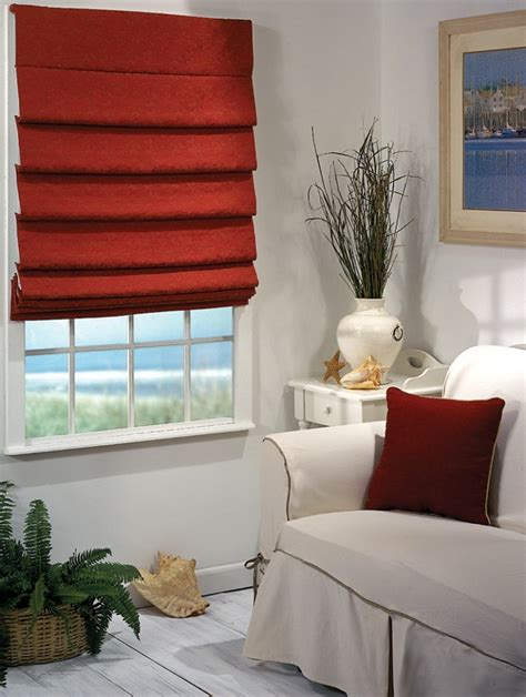 Modern Window Curtains For Living Room by Types Of Roman Shades Blindsmax Com