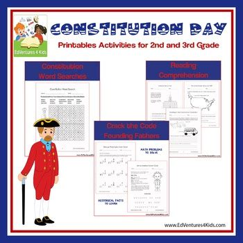 Constitution Day  Activities For 2nd And 3rd Grade By Edventures 4 Kids