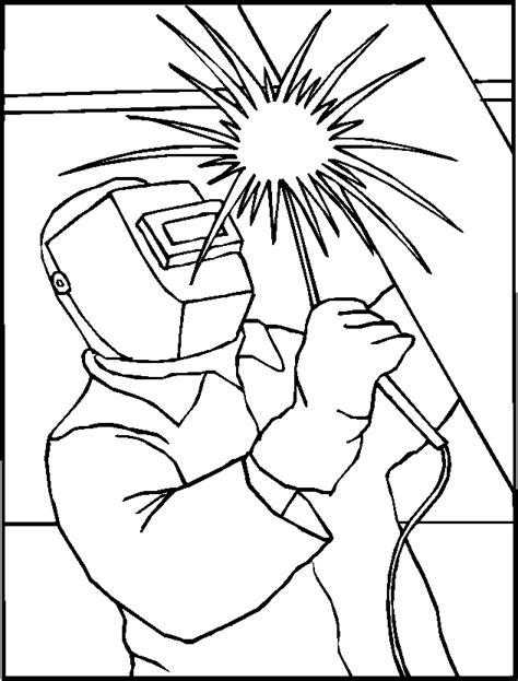 mann  schweissen  ausmalbild malvorlage menschen