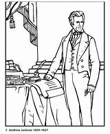 Jackson Coloring Andrew Presidents President Sheets Activity Usa Printables States United Congress Presidential America Bluebonkers Popular sketch template