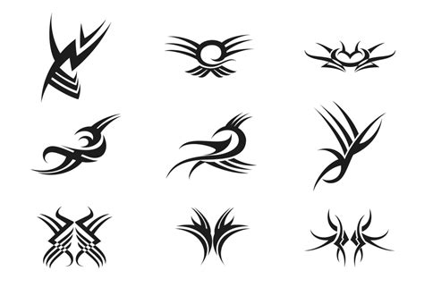 tribal tattoo vector pack   vector art stock graphics images