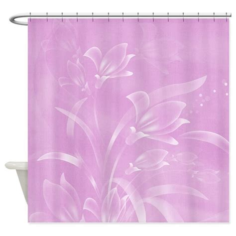 purple flower shower curtain by laurie77
