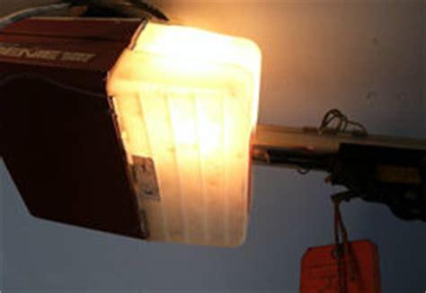 tips on changing the light bulb in your garage door opener