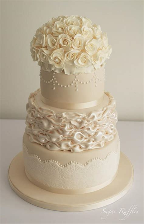 ivory wedding ivory champagne wedding cake