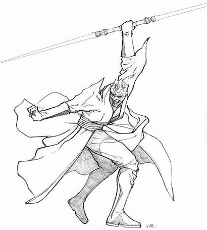 Darth Maul Coloring Pages Savage Opress Drawing
