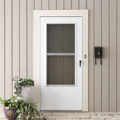 emco screen door emco doors emco 32 in x 80 in k900 series white vinyl