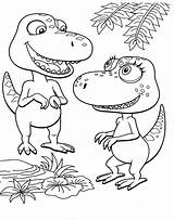 Train Dinosaur Coloring Dino Episodes sketch template