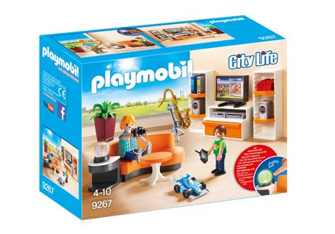 bureau playmobil living room 9267 playmobil
