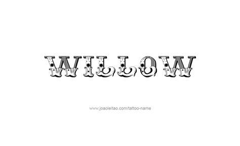willow  tattoo designs