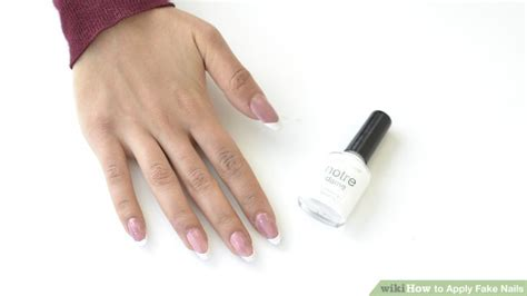 apply fake nails  steps  pictures wikihow