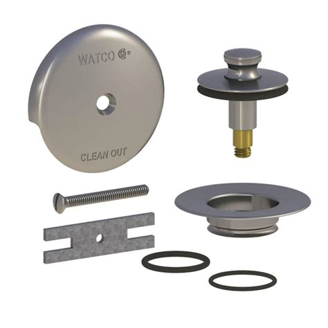 watco quicktrim lift and turn bathtub stopper and 1 hole