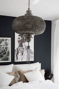 Schlafzimmer Lampe Modern : black palms interior goals wohnen auf kleinen raum bedroom schlafzimmer boho lampe ~ Watch28wear.com Haus und Dekorationen