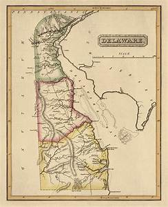 Antique Map Of Delaware By Fielding Lucas - Circa 1817 ...