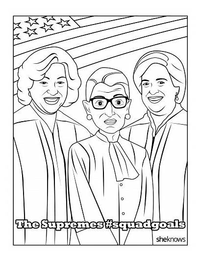 Coloring Supreme Pages Court History Month Printable