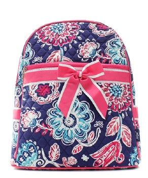 quilted flower backpack