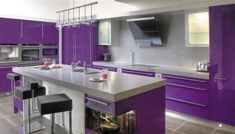 purple kitchens design ideas purple kitchen ideas for unique and modern look diy home 4457
