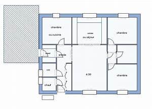 plan maison 90m2 plain pied With plan maison plain pied 90m2