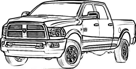 Dodge Car Longhorn Truck Coloring Pages : Coloring Sky