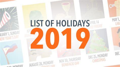 list philippine holidays