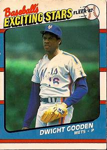 Mets Baseball Card of the Week: 1987 Fleer Dwight Gooden ...