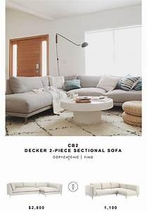 CB2 Decker 2 Piece Sectional Sofa Copycatchic