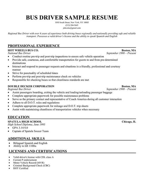 limousine driver resume taxi sample resume examples