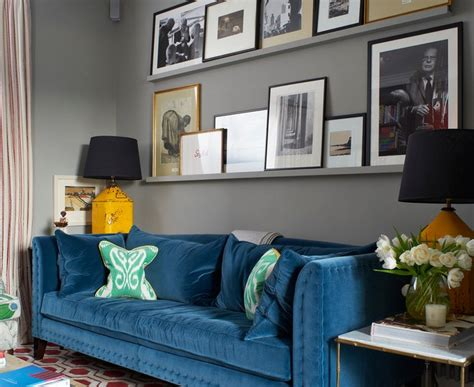 Teal Couch Living Room Ideas by Innovative Blue Velvet Sofa Transitional Living Room