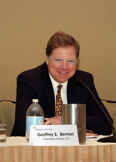 greenberg traurigs geoffrey  berman speaks  sifma seminar