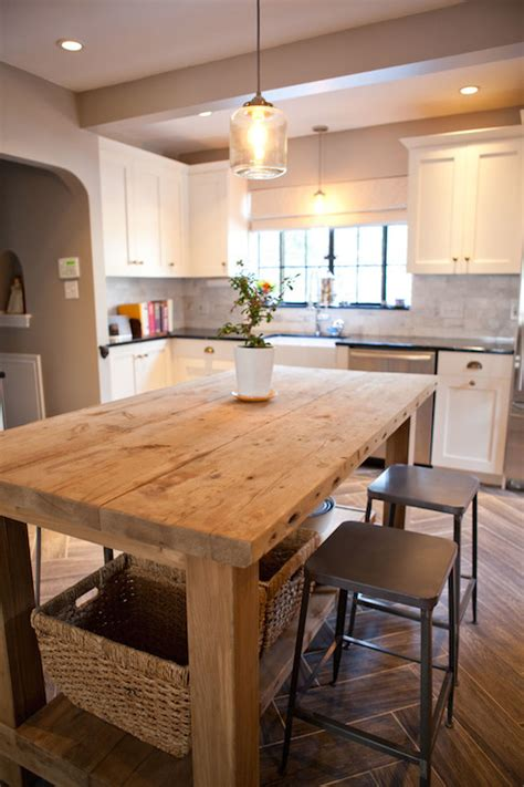 kitchen island images photos salvaged wood island transitional kitchen tess