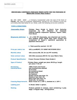 icpo  template pdffiller