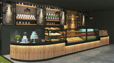 Designing and planning for the specialty coffee industry including new cafes, coffee shops, coffee houses and internet cafes. fantastic coffee shop counter design with bakery display showcase