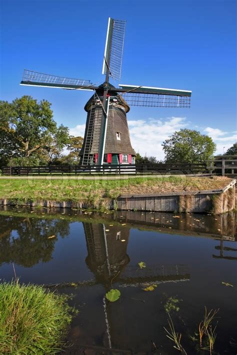 ancient small village  holland  stock photo