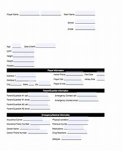 Sportsengine what is a fillable pdf template for Sports profile template