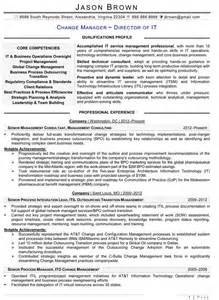 change management resume exles information technology resume exles