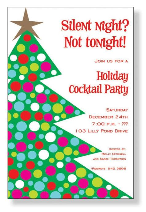 christmas party invitation wording homemade christmas