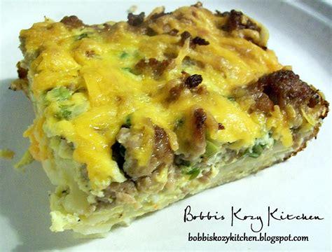 make breakfast casserole make ahead sausage breakfast casserole bobbi s kozy kitchen