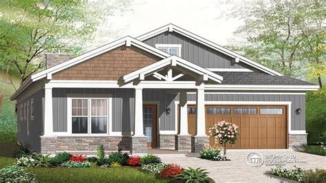 Craftsman House Plans With Garage Single Story Craftsman