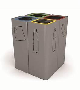 Poubelle De Tri Selectif : poubelle en acier de tri s lectif minillero by citysi ~ Farleysfitness.com Idées de Décoration