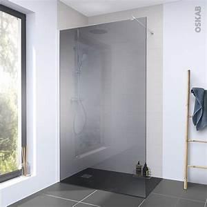 Pose Paroi De Douche : paroi de douche l 39 italienne 140 cm verre fum 8 mm 1 ~ Dailycaller-alerts.com Idées de Décoration