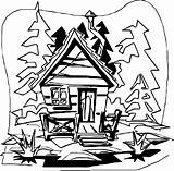 Cabin Coloring Mountain Clip Printable Colossal Getdrawings Getcolorings Template Wecoloringpage sketch template
