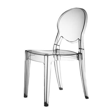 4 x chaise design transparente polycarbonate igloo mooviin