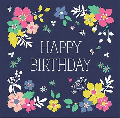 Birthday Garden Ditsy Greetings Dotcomgiftshop Happy Carte