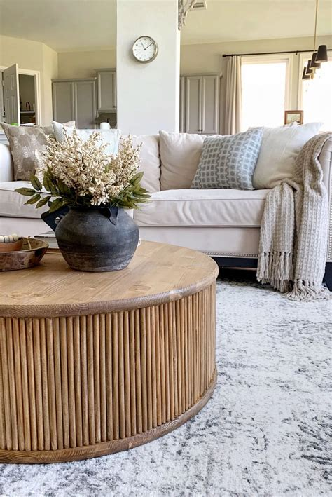 We're pretty happy with the results, and our. DIY Fluted Coffee Table Tutorial in 2020   Coffee table, Round coffee table diy, Living room ...